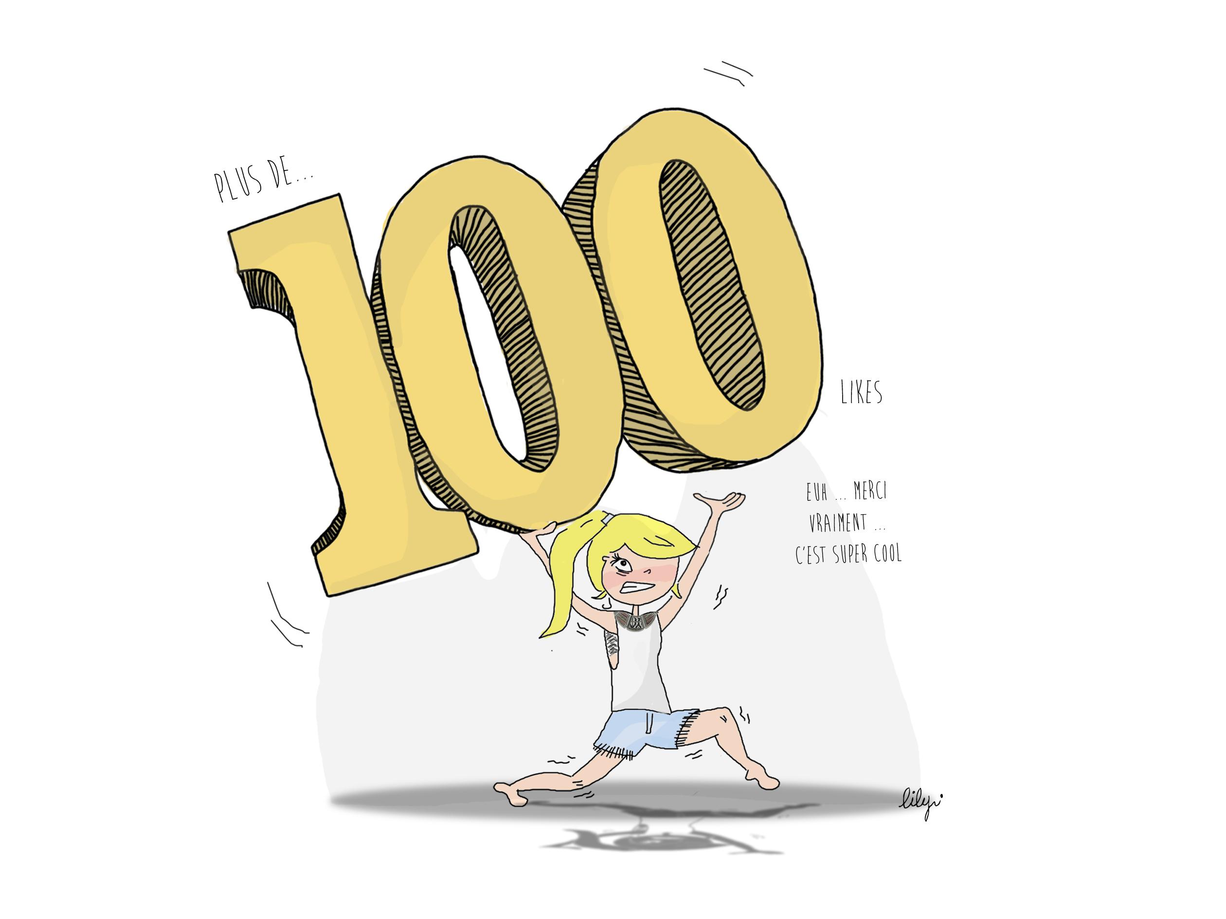 Plus de 100 likes sur Facebook, ça se fête!